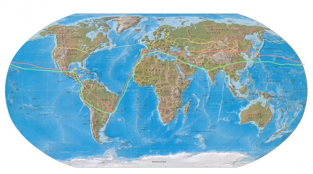 mapa-mundi3 com rotas feitas anterioremente